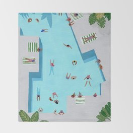 Crisp cut swim Throw Blanket