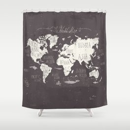 World map shower curtains society6 gumiabroncs Gallery