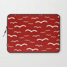Maritime Sea Gull Pattern in Red & White - Mix & Match with Simplicity of Life Laptop Sleeve