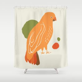 Quirky Australian King Parrot Shower Curtain