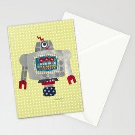pete 50s retro robot Stationery Cards