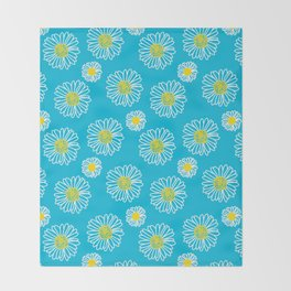 Daisies Galore Throw Blanket