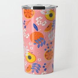 PEACH AND ORANGE PATTERN Travel Mug