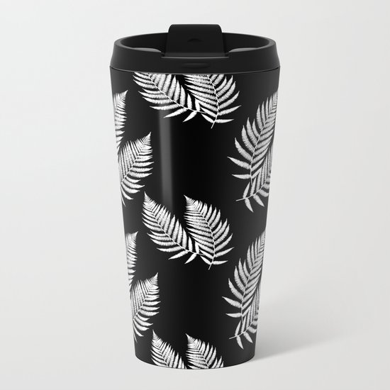 Fern Pattern Metal Travel Mug