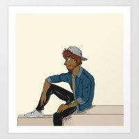 snapback & flannels  Art Print