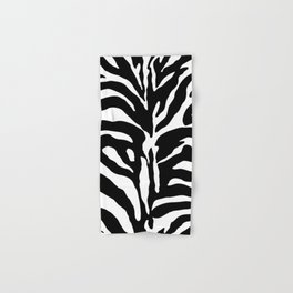 Black and white Zebra Stripes Design Hand & Bath Towel
