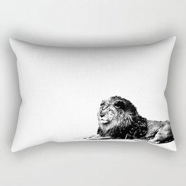 Lion Pen Strokes Rectangular Pillow