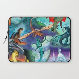Wings of fire all dragon bg Laptop Sleeve
