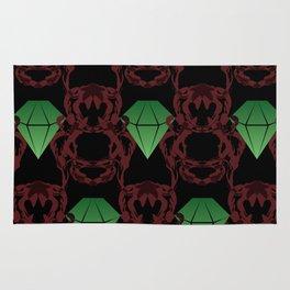 Emeralds & Demons [BLACK] Rug