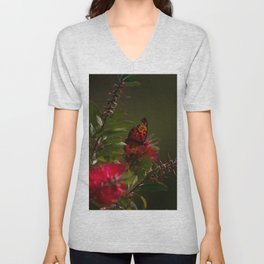Autumn Buterfly Unisex V-Neck