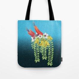 Flax, Kowhai and Manuka Flowers Tote Bag