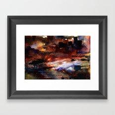 war and ruins Framed Art Print
