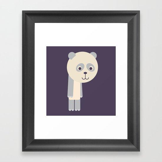 Letter P // Animal Alphabet // Panda Monogram Framed Art Print
