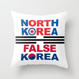 North Korea Throw Pillow