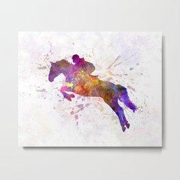 Horse show 07 in watercolor Metal Print