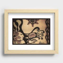 Prehispanic coffee Recessed Framed Print