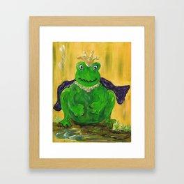 King for a Day! Framed Art Print