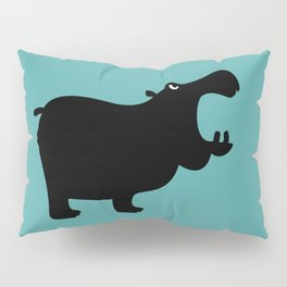 Angry Animals - Hippo Pillow Sham