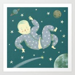 Falling through Space Art Print