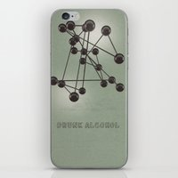 alcohol iPhone & iPod Skins featuring Drunk Alcohol by FalexanderArt