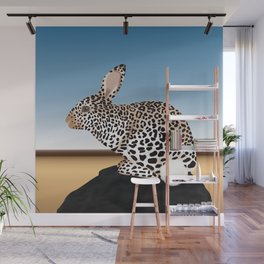 Rabbit Guepard Pattern Wall Mural