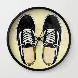 boy's sneakers stayhome Wall Clock