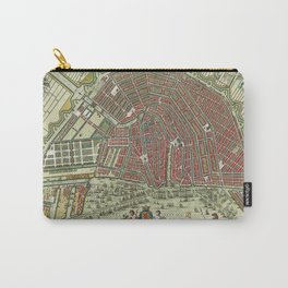 Vintage Color Map of Amsterdam, 1685 Carry-All Pouch