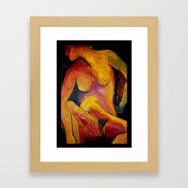 Twisted Torso - Self Portrait Framed Art Print