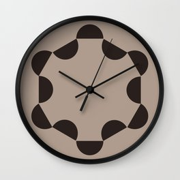 Taupe Slope Wall Clock
