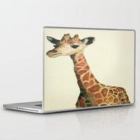 nordic Laptop & iPad Skins featuring Nordic Giraffe by alyssajeandreamer