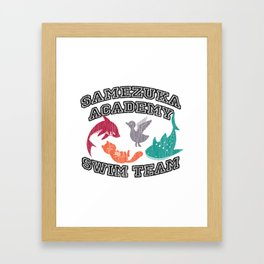 Samezuka Academy Swim Team Framed Art Print