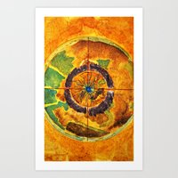 compass Art Prints featuring Compass by Jose Luis