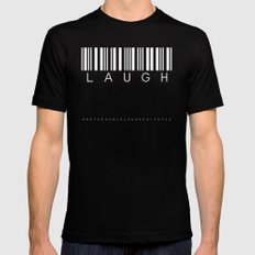 laugh and the world Black MEDIUM Mens Fitted Tee