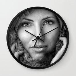 Fur imitation Wall Clock