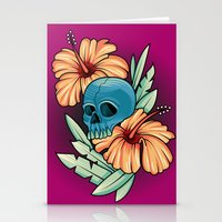 hibiscus Stationery Cards featuring Hibiscus by kellyhalloran