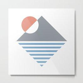 Mountain Sunset Dreams Metal Print