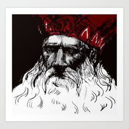 Old Saint Nick Art Print