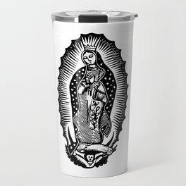 Mother Mary Silhouette Travel Mug