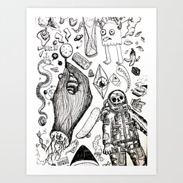 Parallax Universe Art Print