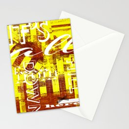It' all downhill from here Stationery Cards