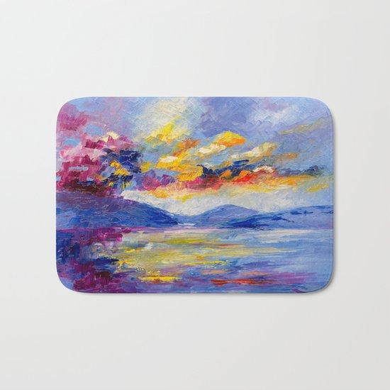 Bright cloud Bath Mat