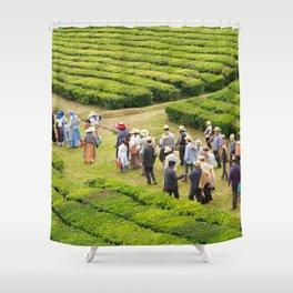 Tea gardens Shower Curtain