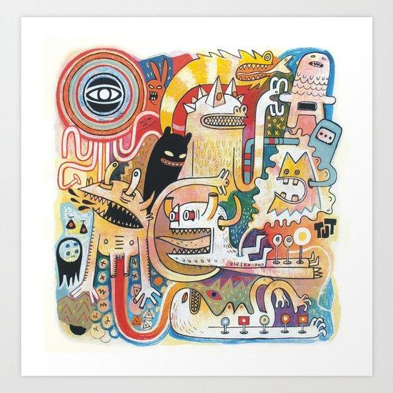 PIAFABRAS Art Print