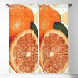 Tropical Print - Orange, Grapefruit, Tangerine - Modern Wall Art Print - Tropical Poster Blackout Curtain