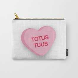 Catholic Conversation Heart Totus Tuus Carry-All Pouch