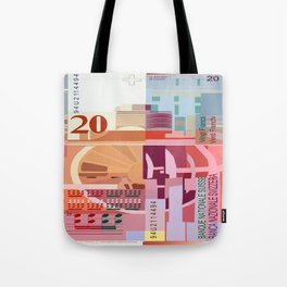 20 Swiss Francs Note Bill Tote Bag