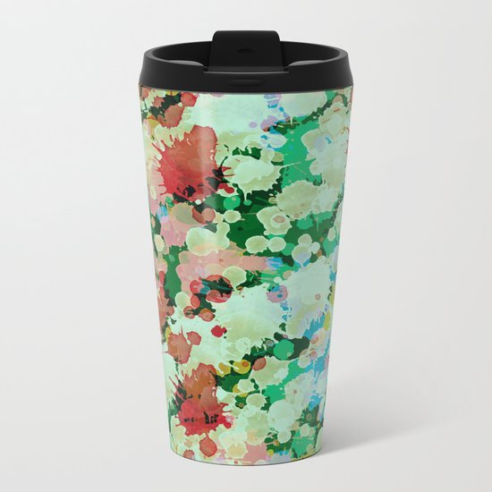 Abstract XXVII Metal Travel Mug
