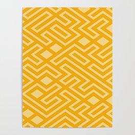 Gold Mosaics Poster