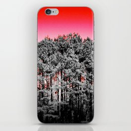 Gray Trees Candy Apple red Sky iPhone Skin