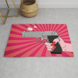 comics gun  Rug